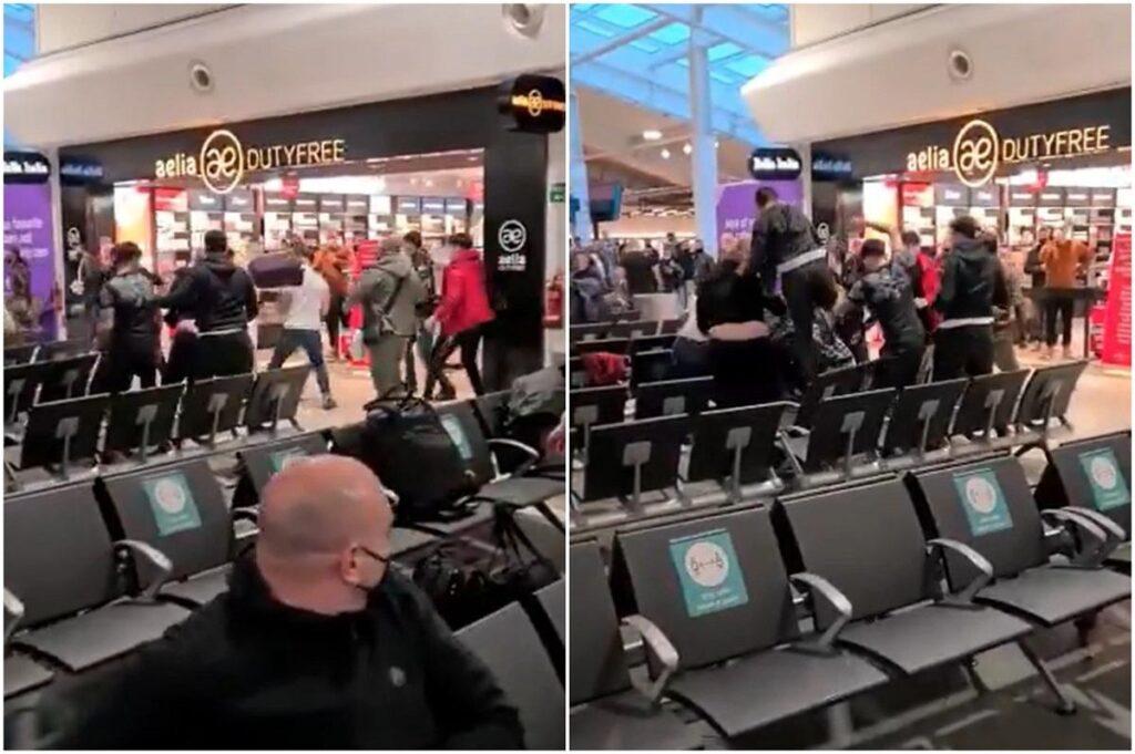 Trei pasageri au fost duși la spital cu răni grave, iar 17 au fost arestați după o bătaie în masă izbucnită vineri, 14 mai, pe aeroportul din Luton.
